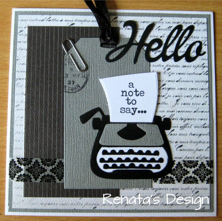 Renata' s Design: A Note To Say....