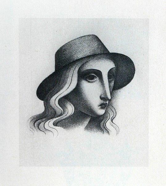 zrzavy divka v klobouku