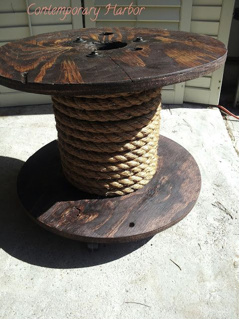 Contemporary Harbor: Nautical Spool Table - thinking of a nautical Steampunk room