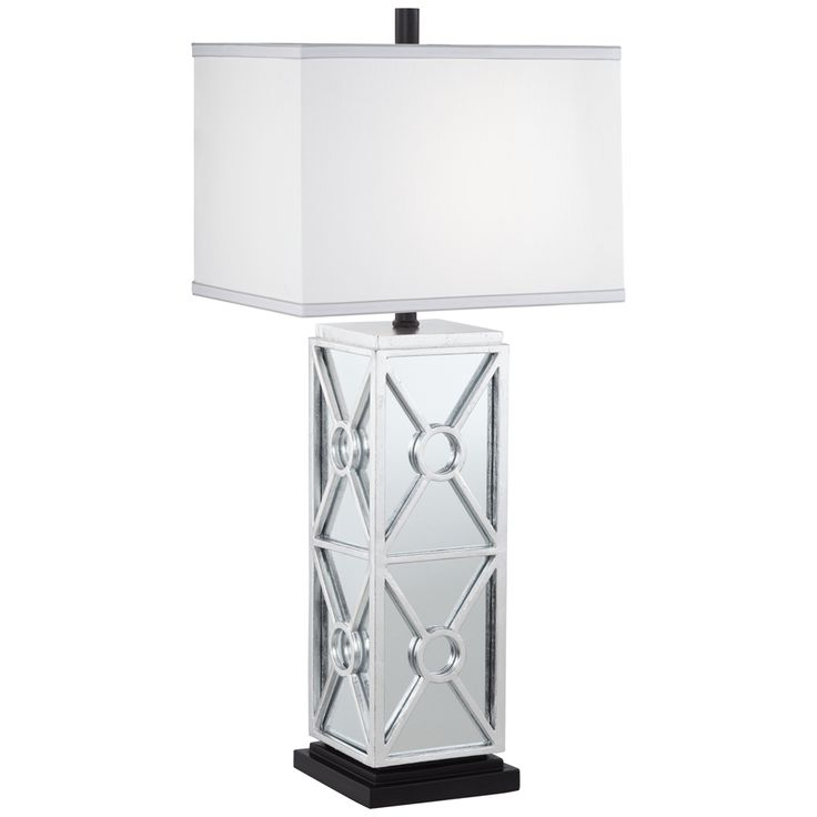 Kathy Ireland Reflections Antique Silver Leaf Table Lamp - Style # 33H35