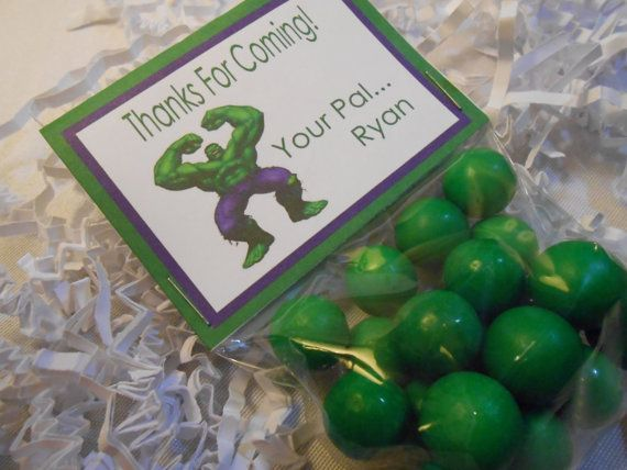 Hulk Party Favors  Hulk Birthday Party  by TheSweetRevenge on Etsy, $40.00