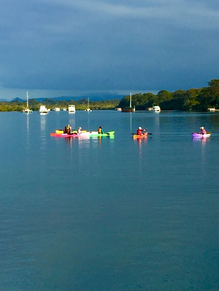 Noosa River - pop of colour to brighten your day. Hire a kayak and paddle the calm waters while seeing the sights along the way.