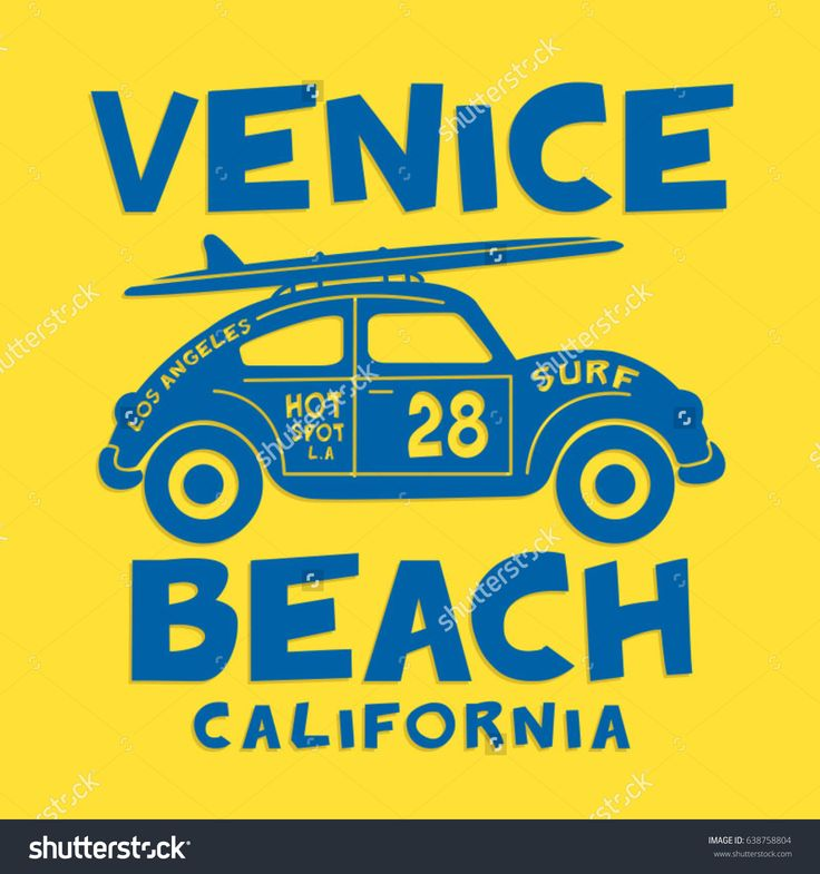 Surf sport and car typography, tee shirt graphics, vectors
