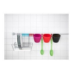 IKEA - BYGEL, Container, Can be hung on BYGEL rail or mounted to the wall.Saves space on the countertopHelps free up space on your countertop while keeping cooking utensils close at hand.