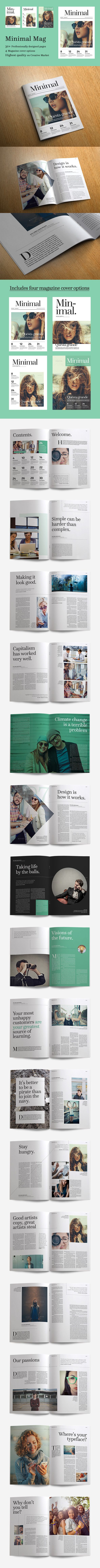 Minimal Magazine by CRS Design on @creativemarket