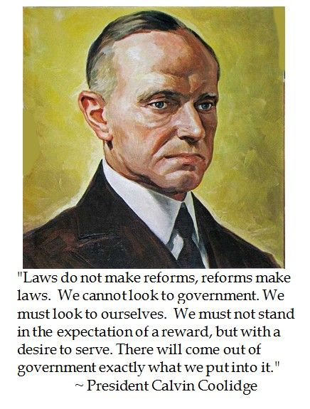 Calvin Coolidge on law
