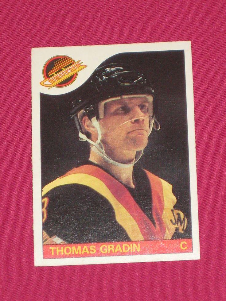 1985-86 #16 Thomas Gradin, O-Pee-Chee OPC Vancouver Conucks, NHL Hockey Card (D) | eBay