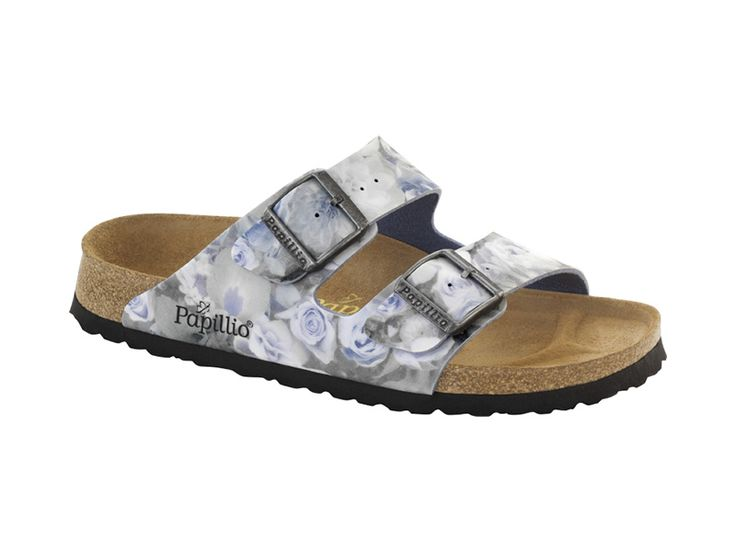 Birkenstock Arizona Birko-Flor Lack Sandale schmal dress blue - 43