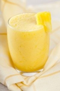 The Arthritis Reversal Smoothie. Cinnamon, almond milk, turmeric, ginger, pineapple, banana, vanilla extract, & carrots.