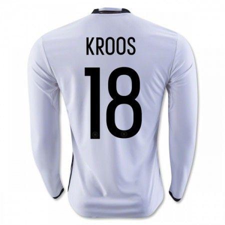 Tyskland 2016 Kroos 18 Hjemmedrakt Langermet.  http://www.fotballteam.com/tyskland-2016-kroos-18-hjemmedrakt-langermet.  #fotballdrakter
