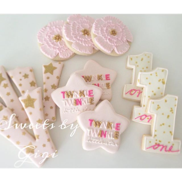 Twinkle Twinkle Little Star First Birthday Cookies First
