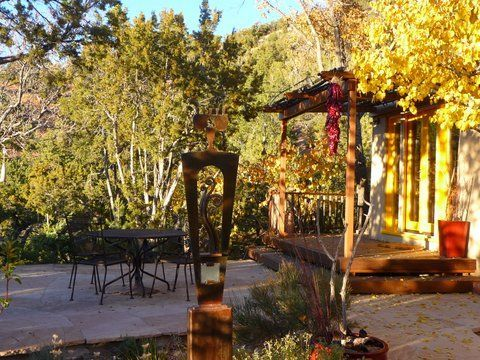 Outdoor dining. Add table/chairs from spa deck and all can gather to enjoy.