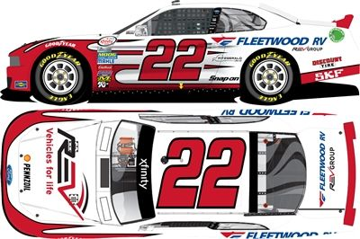 Collect your Joey Logano 2016 Fleetwood RV 1:24 Nascar Diecast collectible car today!