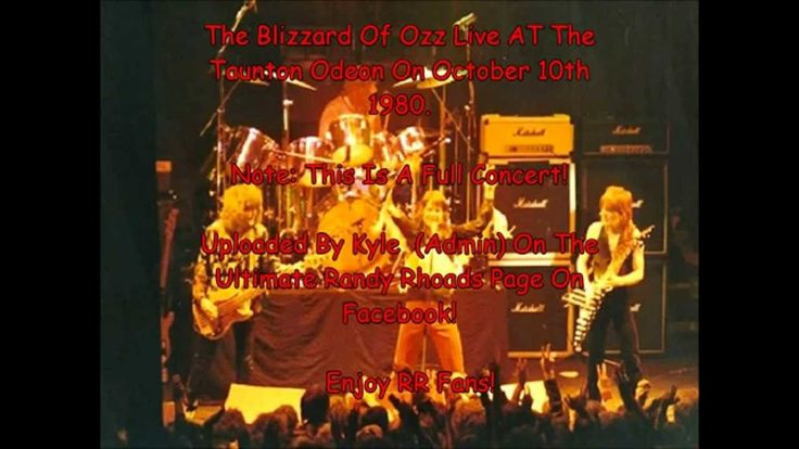 The Blizzard Of Ozz Live With Randy Rhoads At The Taunton Odeon, England...
