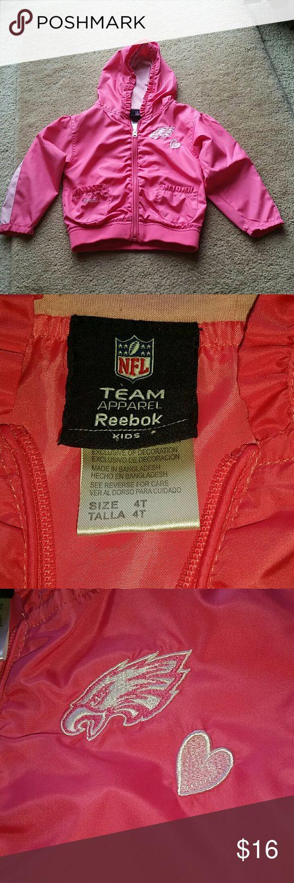 Reebok size 4T Eagles jacket Reebok size 4T Philadelphia Eagles jacket. Cute lightweight jacket!! Reebok Jackets & Coats