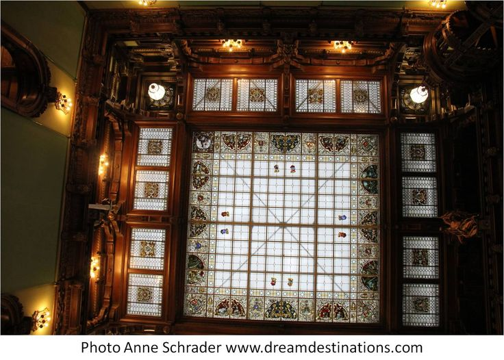 Roof in the Entrance of the Honor Hall Peles Castle Romania