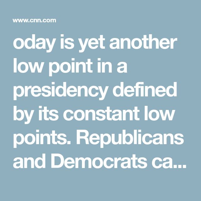 oday is yet another low point in a presidency defined by its constant low points. Republicans and Democrats can agree to disagree on taxes, health-care policy or foreign affairs. But we must stand united in opposition to Trump's bigotry, his persecution of religious minorities and his constant attacks on the core values of American democracy.
