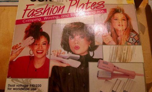 Conair Hair Straightener Waving Crimper Model CS100 Vintage Set Iron   eBay