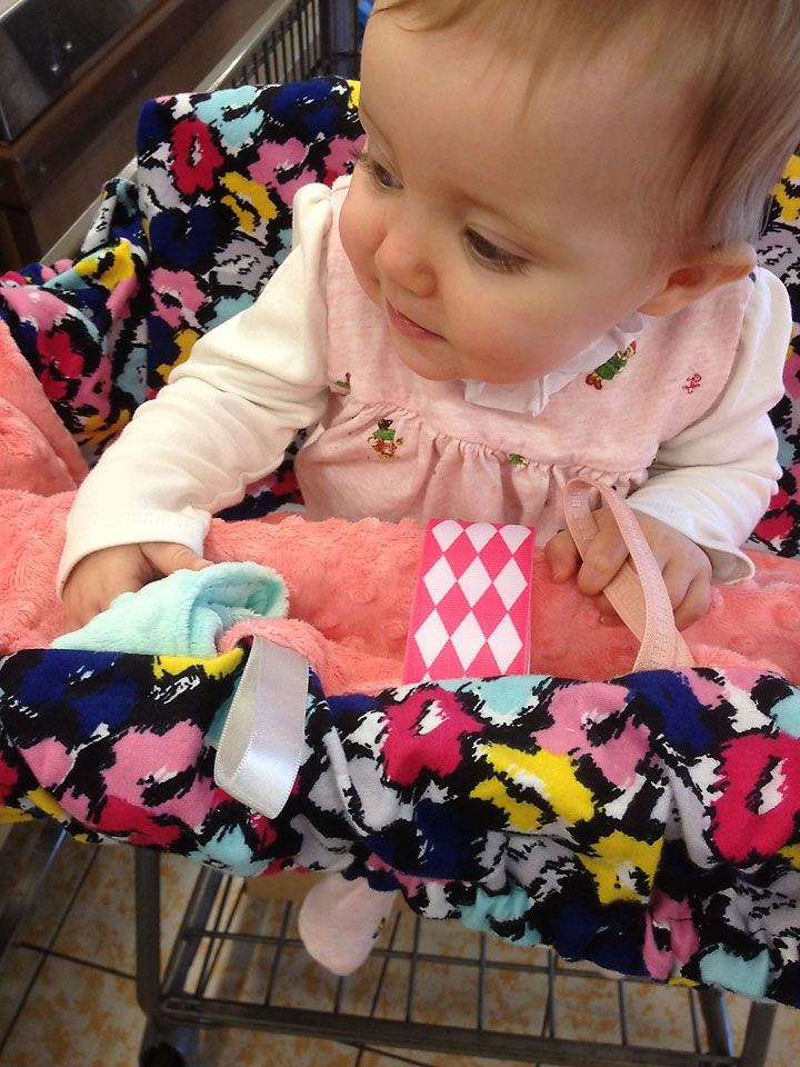 DIY Shopping Cart & Highchair Cover with Ribbon Tag Tutorial | Creative House Blog