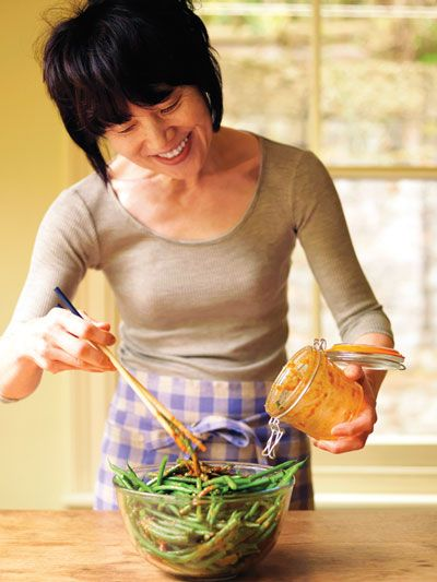 "Oishii! We have two of her books .. so so good. Harumi Kurihara 栗原 はるみ / Harumi is the ""Martha Stewart"" of Japan and has published books on Japanese cooking translated into English"