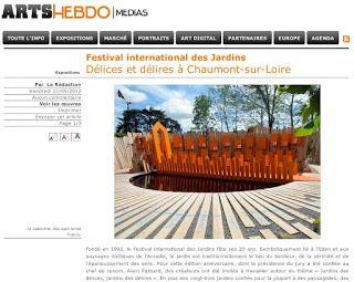 ART HEBDO -11 mai 2012 Un article sur le Festival des Jardins 2012 avec une mise en avant du Calendrier des 7 lunes