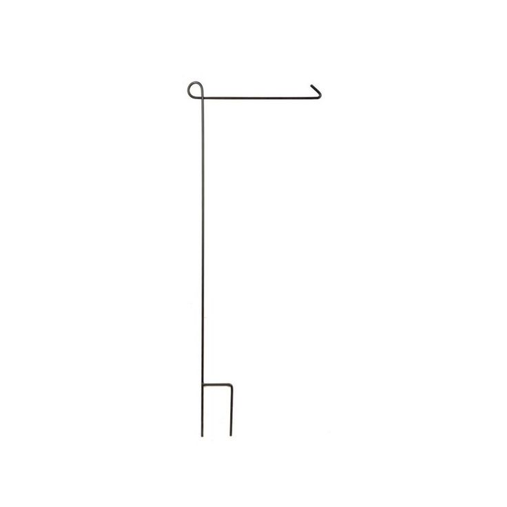 Need a place to hang your favorite garden flags? This minimalist stand will hold up your favorite seasonal and holiday flags in your yard. Garden Flag Stand | Weekends Only Furniture and Mattress