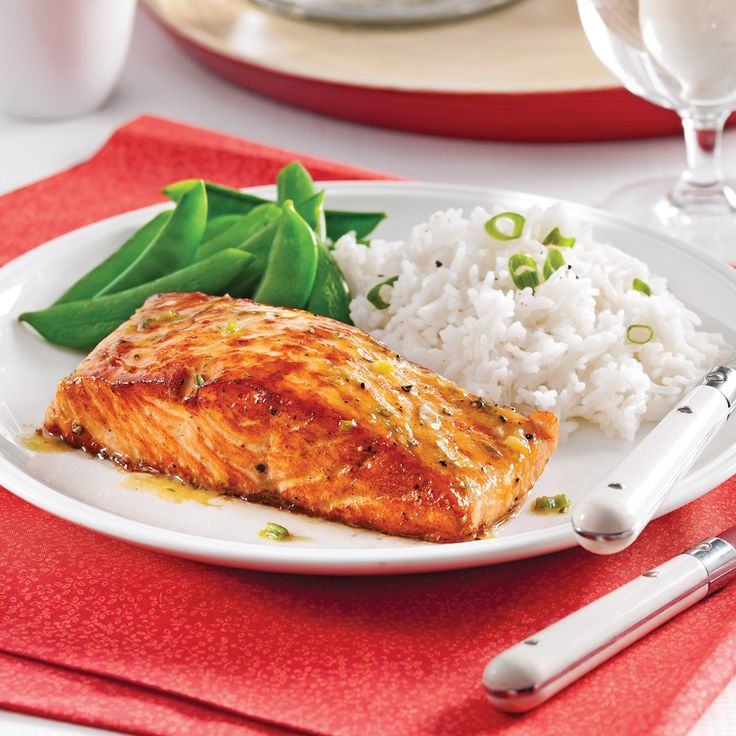 De jolis pavés de saumon laqués à déposer sur un lit de riz ou sur une salade croquante! Un délice!