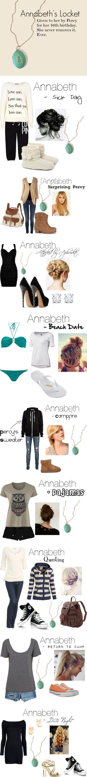 """Percy Jackson & The Olympians: Annabeth"" by dyingjusttoknowyourname ❤ liked on Polyvore"