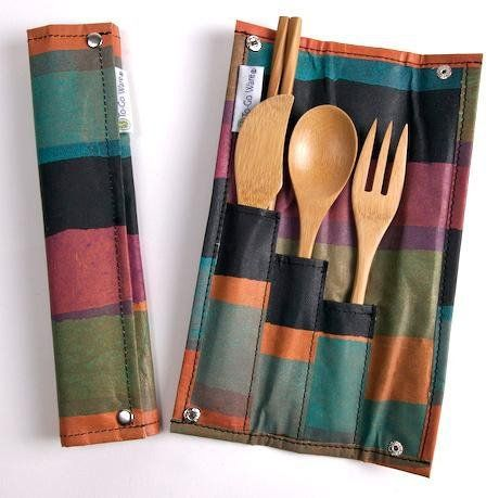 This bamboo utensil kit is perfect for camping—and sustainable! #ecodesign #camping #campinggear