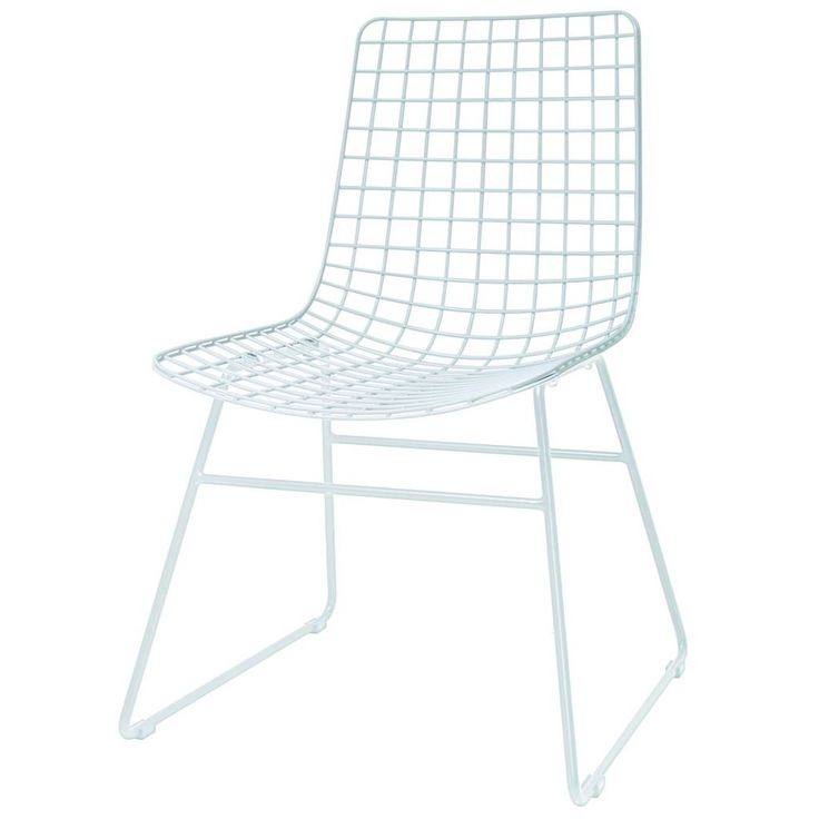 Diese Metalldrahtstuhl Drahtspeise HK-living in weiß ist ein sehr gut für Grund Sitz an Ihrem Tisch. Nehmen Sie eine aufregende Mischung mit den anderen Draht