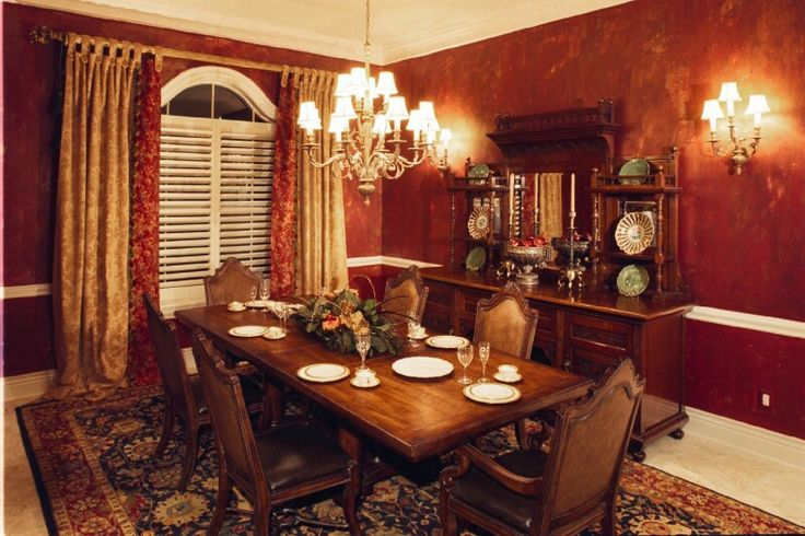 Dining room sets atlanta ga formal dining rooms elegant for Formal dining room window treatments