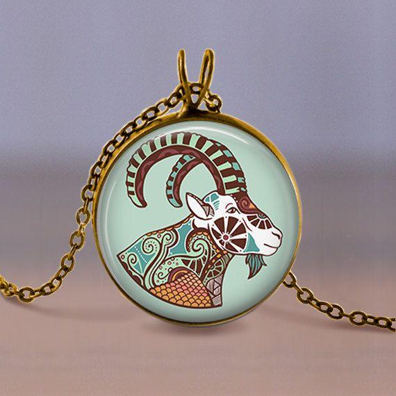 Jewelry  Necklace  Capricorn Zodiac Horned by MaDGreenCreations, $7.49