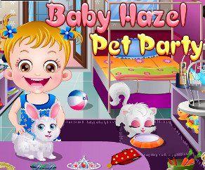 Малышка Хейзел Вечеринка Для Питомцев, http://www.babyhazelworld.com/game/malyshka-hjejzjel-vjechjerinka-dlja-pitomtsjev. Помоги малышке Хейзел приготовить ее питомцев к большому празднику в их честь