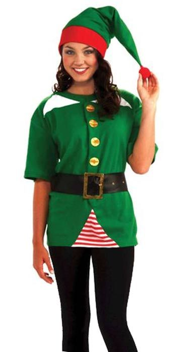 Christmas+elf+costume+Women | Unisex Deluxe Elf Tunic Christmas Costume
