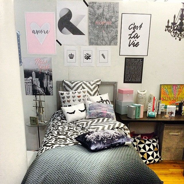 34 Best Great Dorm Bathroom Ideas Images On Pinterest: Style Your Dorm Room Bed With Multiple Prints! Http://www.dormify.com/collections/upper-east