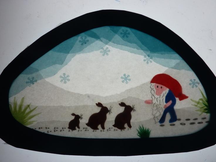Winter ~ Tomte ~ Window Transparency