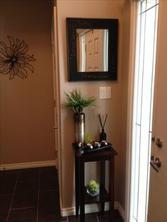 entryway decor for small space like the idea of a small table not this