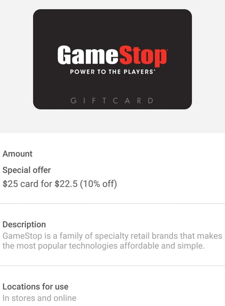 10 Off Gift Card For Gamestop If You Use Samsung Pay To Ebay Gift Gift Card Cards