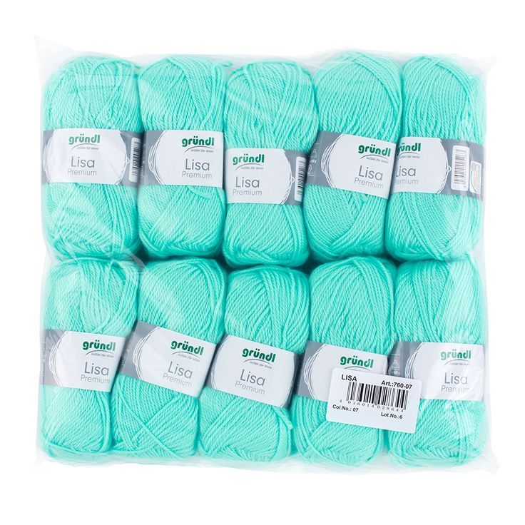 Gründl 760-07 Lisa Premium Wolle, Polyacryl, pastelltürkis, 32 x 27 x 6 cm: Amazon.de: Küche & Haushalt