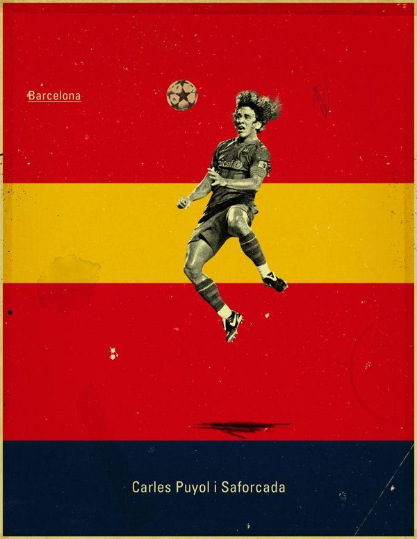 Famous Footballers by Jon Rogers, via Behance  #soccer #poster