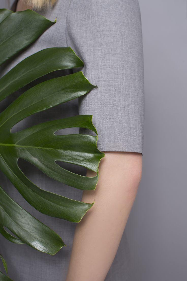 DRESS CODE TROPICAL WOOL #grey #dress #dresscode #tropicalwool #natural #wool #details