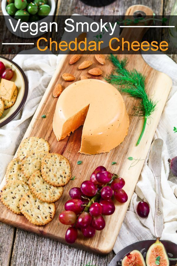 Smoky Vegan Cheddar Cheese Recipe With Images Vegan Cheddar Cheese Vegan Cheese Recipes Vegan Cheddar