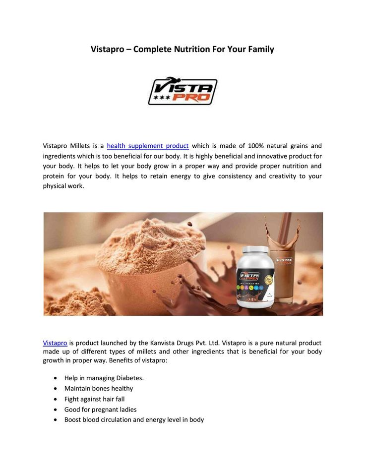Vistapro – Complete nutrition for your family