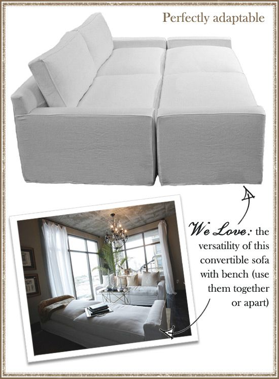 I really like this, but white..... I dunno about white furniture.