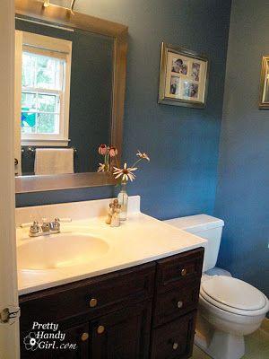 RL durango blue I have a dirty little secret....my master bathroom is UGLY! - Pretty Handy Girl