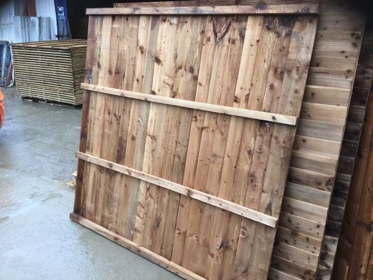 Slight seconds feather edge fence panels