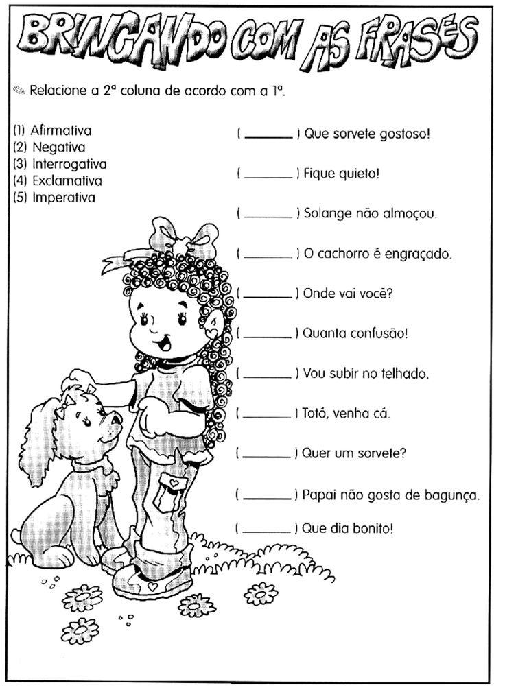 Atividade: tipos de frases  |   Rérida Maria