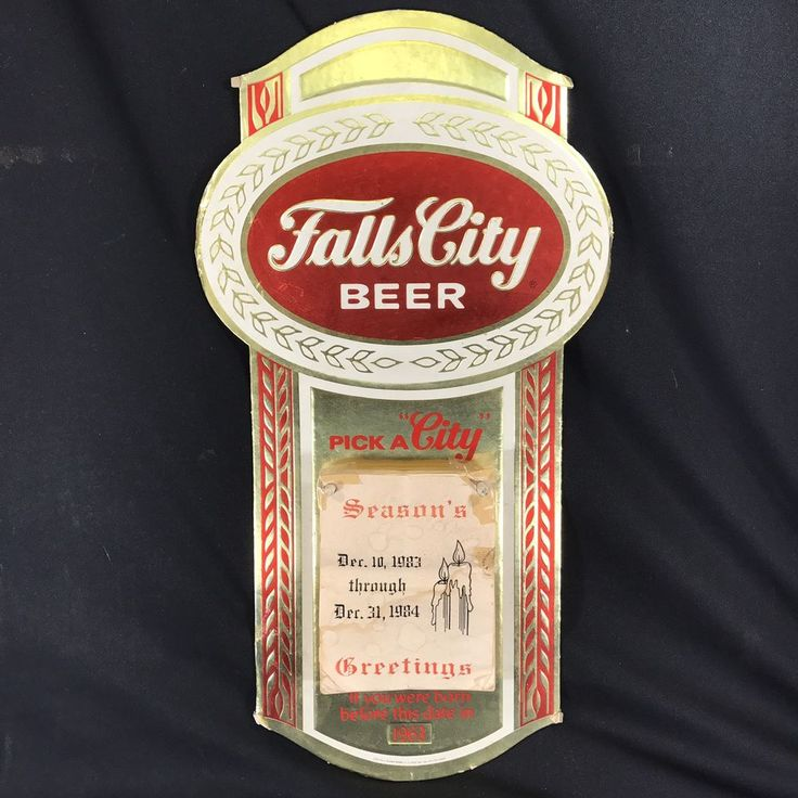 "Vintage Falls City Beer Advertisement Sign Age Checker Calendar 1980s 18"" tall  | eBay"