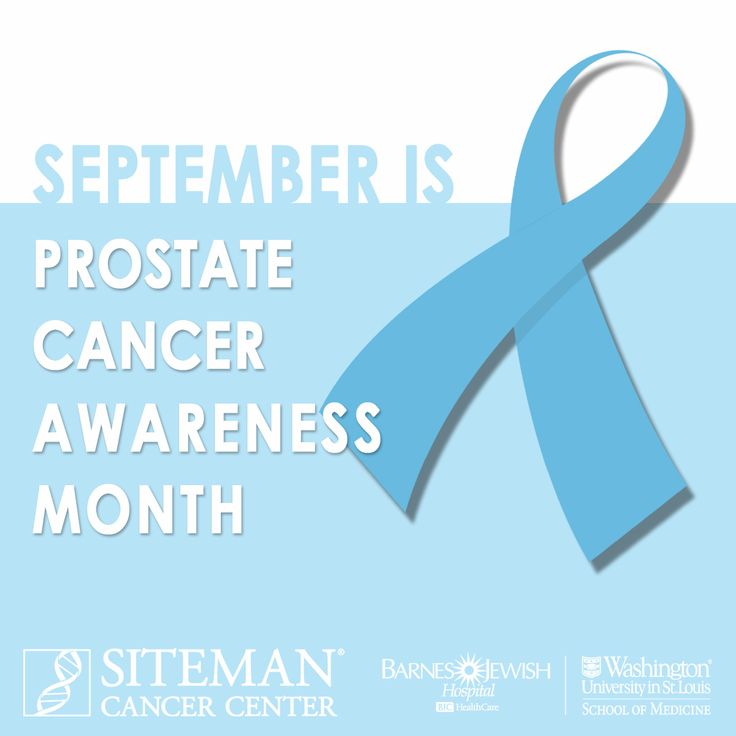 September is Prostate Cancer Awareness Month. Help us spread awareness by sharing this with your friends and family. Prostate cancer mostly affects older men, but men with a strong family history and African American men may develop prostate cancer at a younger age. Click here to learn more about screening, risk and diagnosis: https://siteman.wustl.edu/treatment/cancer-types/prostate/screening-risk-and-diagnosis/