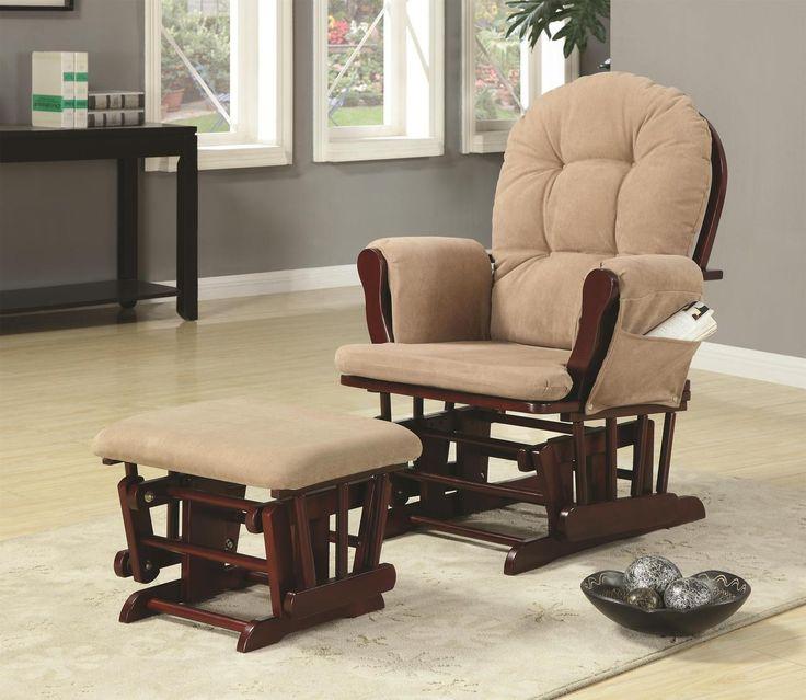 outdoor glider chair with ottoman. glider rocker and ottoman with beige upholstery outdoor chair